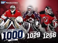 Only two goalies have played more than 1,000 games before tonight... now Luo's the third.  #NHLMilestones