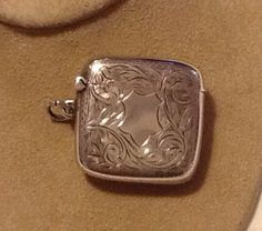 1900 Sterling Silver Match Safe, Pendant or Locket by RecycleAmerica on Etsy https://www.etsy.com/listing/214165805/1900-sterling-silver-match-safe-pendant