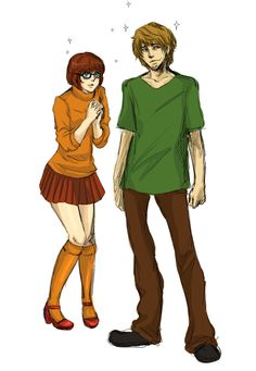 Velma and Shaggy by SchifferCake.deviantart.com
