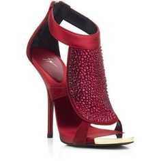 Giuseppe Zanotti Red Christina Diamante Sandal ❤ liked on Polyvore featuring shoes, sandals, heels, giuseppe zanotti, heeled sandals, diamante shoes, giuseppe zanotti sandals and red sandals #giuseppezanottiheelsred #giuseppezanottiheelssandals
