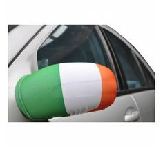 2 Piece Set of Tricolour Car Wing Mirror Covers St Patricks Day, Flags, Decorations, Mirror, Cover, Dekoration, Mirrors, National Flag, Ornaments