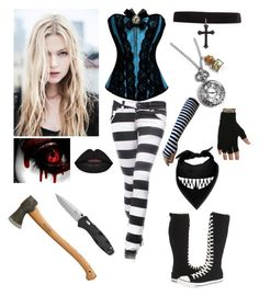 """Wonderland - Creepypasta OC"" by shadow-cheshire ❤ liked on Polyvore featuring Converse, women's clothing, women, female, woman, misses and juniors"