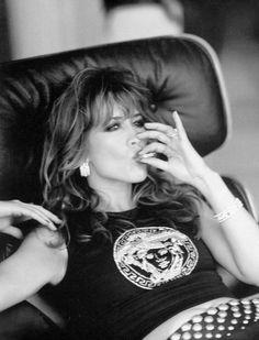 pinterest.com/fra411 #smoking - Sophie Marceau #smoke