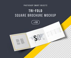 """Check out this @Behance project: """"Square Trifold Brochure Mockup - PSD"""" https://www.behance.net/gallery/43985763/Square-Trifold-Brochure-Mockup-PSD"""
