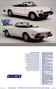 1975 Fiat 124 Sport Spider #1975 #Fiat_124_Sport_Spider #Fia_SpA #IT