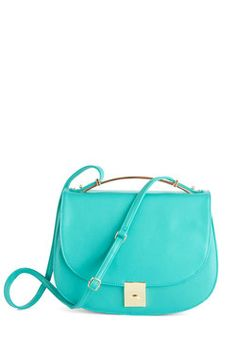 Aquas and Effect Bag. Cause a stylish scene with this vibrant crossbody! #blue #modcloth