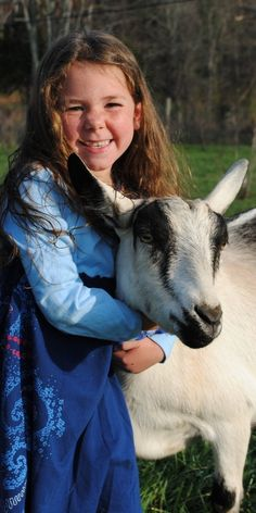 ► Indigo with Valley, her birthday goat. Valley was born on her birthday. Check it out: http://gmsoap.co/TQmtj8 #goats #birthday