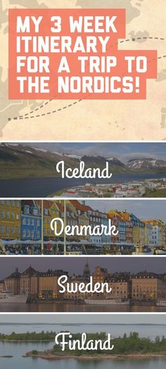 My 3 week itinerary for a trip to the Nordics! / A Globe Well Travelled (scheduled via http://www.tailwindapp.com?utm_source=pinterest&utm_medium=twpin&utm_content=post103549907&utm_campaign=scheduler_attribution)
