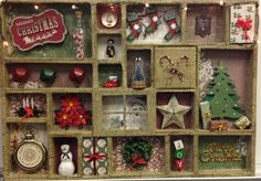 Christmas Decor Printer Tray Shadow Box by enchantedephemera