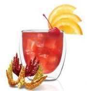The Mockingjay = Frangelico + Brandy + Cherries... garnish with orange slices through an arrow. #hungergames #recipe