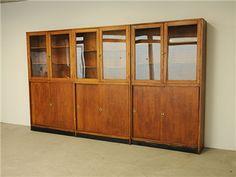 Set of 3 Top Glazed Cabinets
