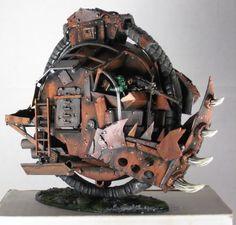 Ork monowheel Trukk, Conversion, Warhammer 40k, Kustom