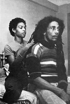 I wonder if she ever had to tell him to hold still…Bob Marley