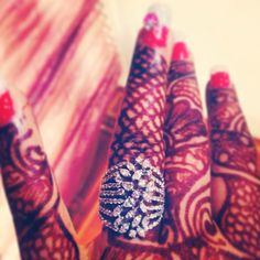 My engagment ring #indian #mehendi # popley
