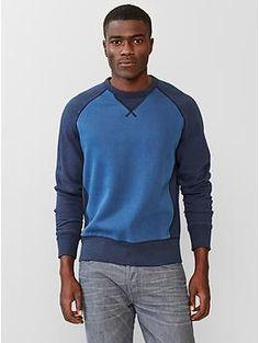 Lived-in colorblock sleeve sweatshirt | Gap