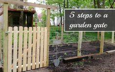 A Garden Gate in 5 Easy Steps by www.joy2journey.com