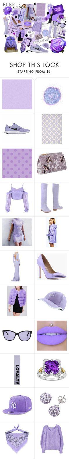 """Purple Shades"" by miss-sj-xo ❤ liked on Polyvore featuring York Wallcoverings, The Gypsy Shrine, NIKE, Safavieh, Nine West, Sergio Rossi, Boohoo, Cushnie Et Ochs, Zac Posen and Versace"