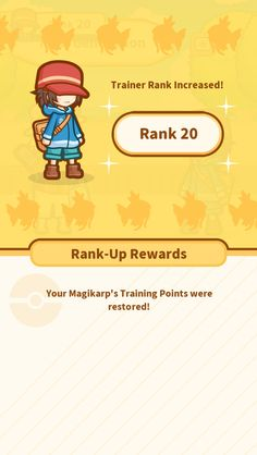 All right! My Rank went up to 20! #Magikarp http://koiking.jp/r/
