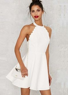 Full scallop attack flare dress pink mini dresses, little white dresses, quinceanera dresses, Hoco Dresses, Trendy Dresses, Homecoming Dresses, Cute Dresses, Casual Dresses, Dress Outfits, White Graduation Dresses, Mini Dresses, Quinceanera Dresses