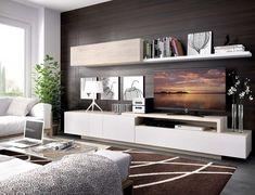 home interior decoration design images 6 - Interior Decor Trends Living Room Wall Units, Living Room Tv Unit Designs, Living Room Modern, Home Living Room, Tv Cabinet Design, Rack Tv, Corner Furniture, Hm Home, Muebles Living