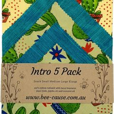 Intro Pack (Pack of Wax Wraps, Bright Future, Biodegradable Products, Something To Do, Alternative, Bee, Packing, Bag Packaging, Honey Bees