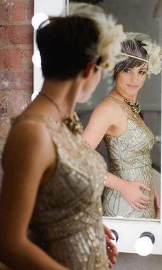 Sz 0 * SUE WONG ILLUSION Wedding Dress Champagne & Silver 1920's GATSBY   | eBay