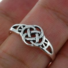 Plain Celtic Knot Silver Ring all sizes 925 Solid by FineArt925, $12.25