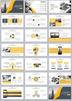 21+ Annual Concise Design PowerPoint Template Simple Powerpoint Templates, Professional Powerpoint Templates, Keynote Template, Flyer Template, Presentation Design Template, Presentation Layout, Business Presentation, Booklet Design, Graphisches Design