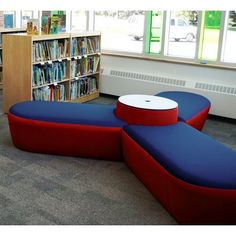 Palmieri Molecule Fabric Semicircle Soft Seating Bottom Color: Charcoal, Top Seat Color: Navy