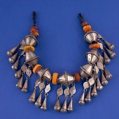 Morocco | Necklace; silver and amber | ©Francesco Venturi