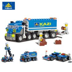 >> Click to Buy << KAZI 163PCS Truck Building Blocks baby Toys For children Birthday Gift brinquedos building bricks toys for kids drop shipping #Affiliate