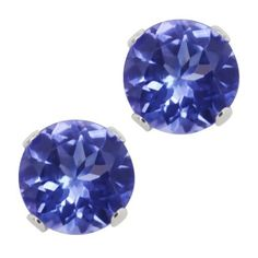 1.25 Ct Round Genuine Tanzanite .925 Sterling Silver Stud Earrings 5MM Gem Stone King. $49.99. .925 Sterling Silver. 100% Natural Tanzanite. 1.25 Ct (5MM)