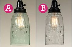 Mason Jar Pendant Light | Decor Steals~Enjoy Today's Steal from DECOR STEALS
