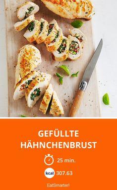 Gefüllte Hähnchenbrust mit getrockneten Tomaten und Spinat | Kalorien: 307.63 Kcal - Zeit: 25 Min. | eatsmarter.de