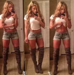 Boots and daisy dukes
