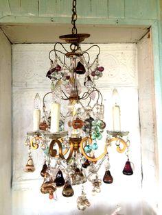Italian Murano beads chandelier
