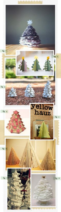 we used to make figure 6 with Grandma MaFern  Some great ideas for paper Christmas trees on this website