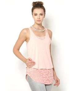 Karl Lagerfeld Job Double Layer Tank- Made in Portugal