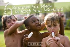 These summer fun ideas will keep our kids busy and happy! Try our 6 summer fun ideas to rock your weekend!