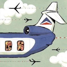 Adam McCauley Illustration | Airplane Fares