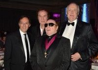 Don Black, Ray Davies, Van Morrison and BMI Icon Sir Tim Rice attend the 2014 BMI London Awards, held at the Dorchester Hotel in London on October 13, 2014.
