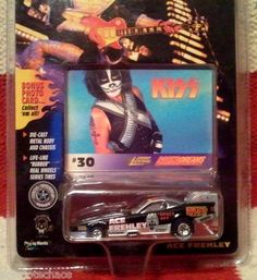 Johnny Lightning Kiss Ace Frehley Funny Car Racing Dreams Photo Card Real Wheels | eBay FREE U.S. SHIPPING!!!