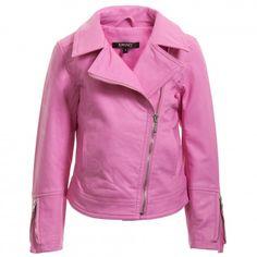 Girls Pink Biker Jacket
