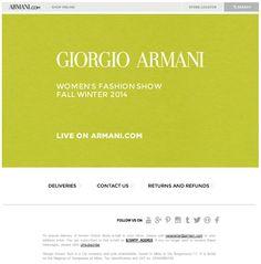 Giorgio Armani WOman: watch the 2014 Fall Winter fashion show live