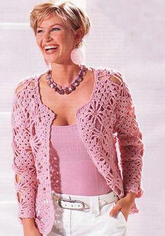 fashion for women: pink lace cardigan, free crochet patterns | make handmade…