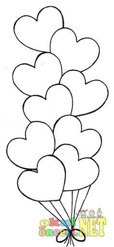Coronary heart Balloons - Free Coloring Pages Free freebie printable dig ., How To Organize An Unforgettable valentines Day Cards-Themed Party Valentine's Day cards ar, Applique Templates, Applique Patterns, Applique Designs, Owl Templates, Felt Patterns, Patch Aplique, Heart Balloons, Coloring Book Pages, Printable Coloring Pages