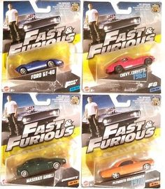 Hot Wheels Fast & Furious Lot of 4 packs Maserati /Ford GT /Plymouth / Corvette The Furious, Fast And Furious, Hot Wheels Treasure Hunt, Automobile, Chasing Cars, Maserati Ghibli, Ford Gt, Cultura Pop, Courses