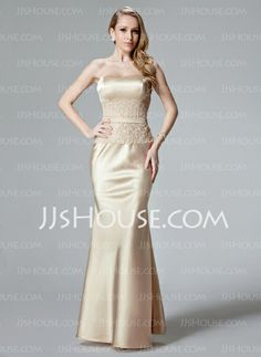 Evening Dresses - $116.29 - Mermaid Sweetheart Floor-Length Charmeuse Evening Dresses With Lace (017004466) http://jjshouse.com/Mermaid-Sweetheart-Floor-Length-Charmeuse-Evening-Dresses-With-Lace-017004466-g4466