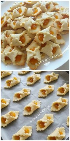Rita - Welcome Appetizer Recipes, Dessert Recipes, Chocolate Chip Granola Bars, Homemade Pastries, Filling Food, Food Carving, Cheese Cookies, Easy Cookie Recipes, Turkish Recipes