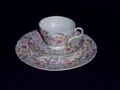"""SHELLEY HENLEY """"COUNTRYSIDE CHINTZ"""" TRIO TEA CUP, SAUCER & PLATE SET WOW   Pottery & Glass, Pottery & China, China & Dinnerware   eBay!"""